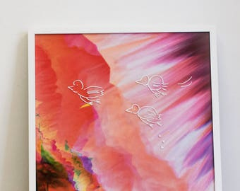 Forward! Print in 50x70 cm with Frame