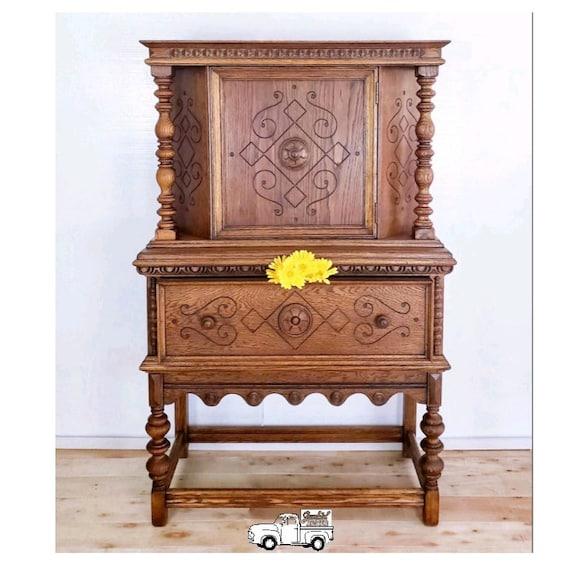 image 0 - Jacobean Hutch / Liquor Cabinet /Wine Cabinet / Linen Cabinet Etsy