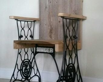 Reclaimed Barn Wood Singer Base Chair