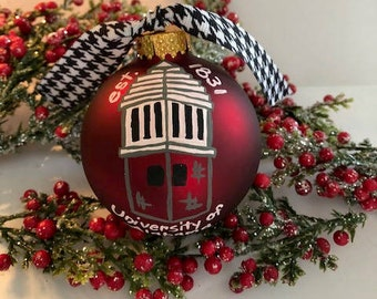 Alabama Ornaments- Handpainted Assorted Designs