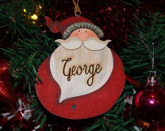 Personalised Santa Hanging Tree Decoration