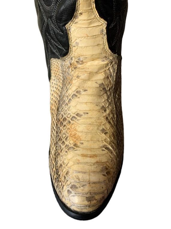 Cowboy Boots | Dingo | Snakeskin Boots | 80s | Di… - image 6