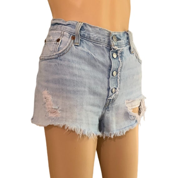 Levi's 501 Cutoff Shorts Button-Fly Vintage 90s H… - image 7