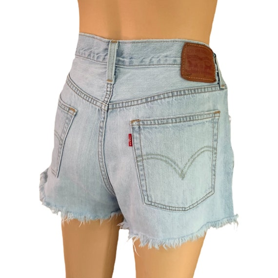 Levi's 501 Cutoff Shorts Button-Fly Vintage 90s H… - image 8