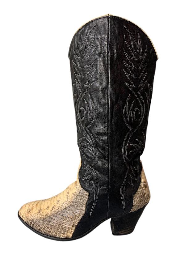 Cowboy Boots | Dingo | Snakeskin Boots | 80s | Di… - image 3