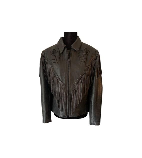 Motorcycle Jacket | Unik | Fringe Leather Jacket |
