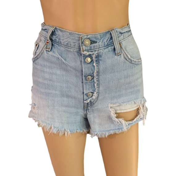 Levi's 501 Cutoff Shorts Button-Fly Vintage 90s H… - image 3
