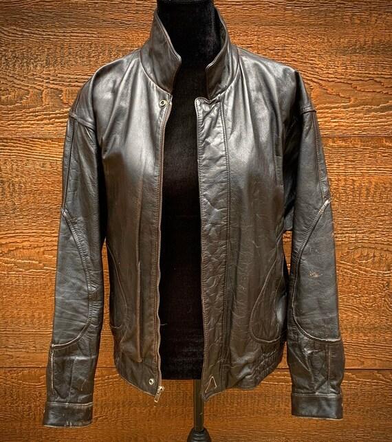 Leather Jacket - Vintage Leather Jacket - Black Le