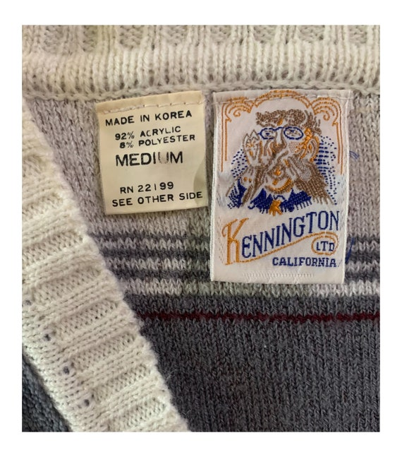 Kennington California Velour Sweater Vintage 70s … - image 8