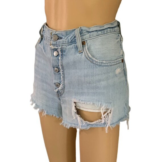 Levi's 501 Cutoff Shorts Button-Fly Vintage 90s H… - image 5