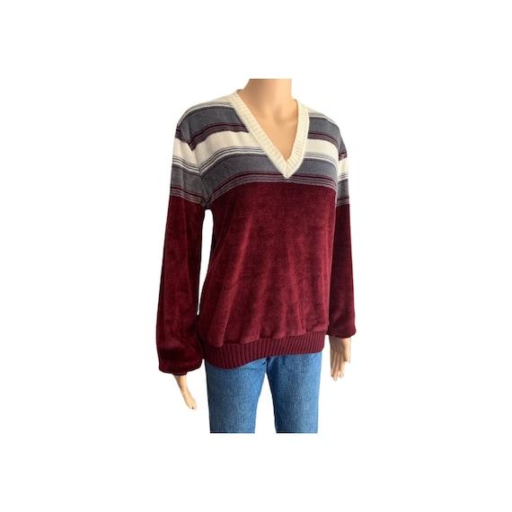 Kennington California Velour Sweater Vintage 70s … - image 1