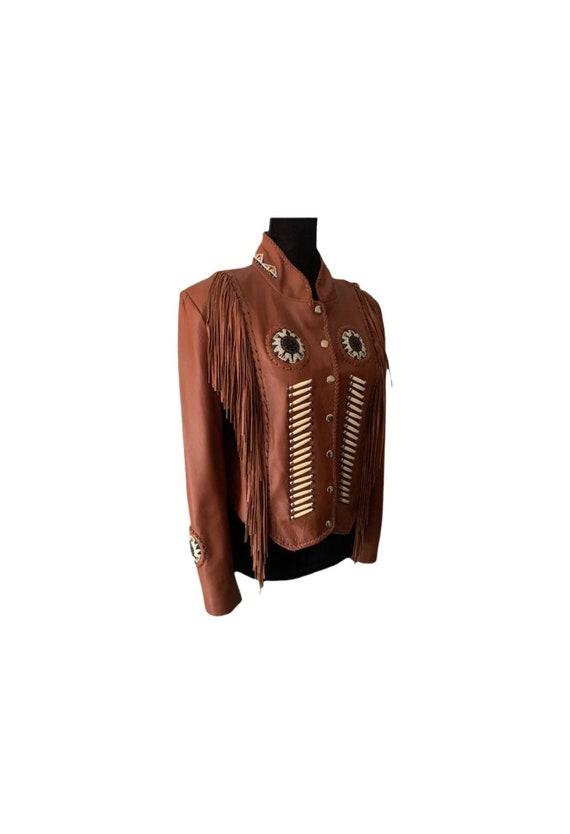 Beaded Leather Jacket | Western World | Fringe Lea
