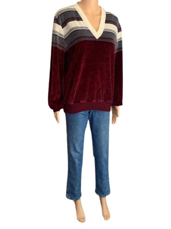 Kennington California Velour Sweater Vintage 70s … - image 6