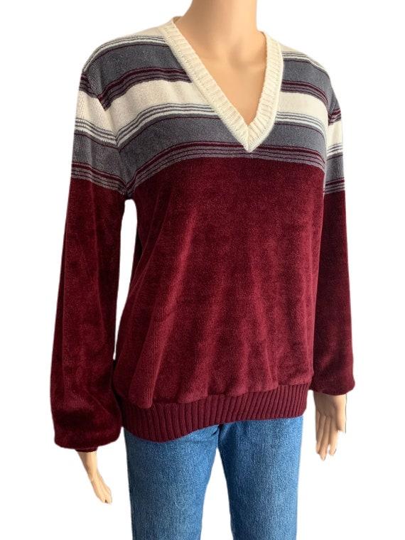 Kennington California Velour Sweater Vintage 70s … - image 2