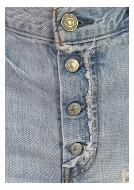 Levi's 501 Cutoff Shorts Button-Fly Vintage 90s H… - image 10