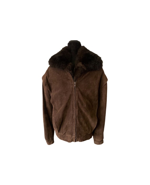 Suede Bomber Jacket | David Ross | Leather Bomber