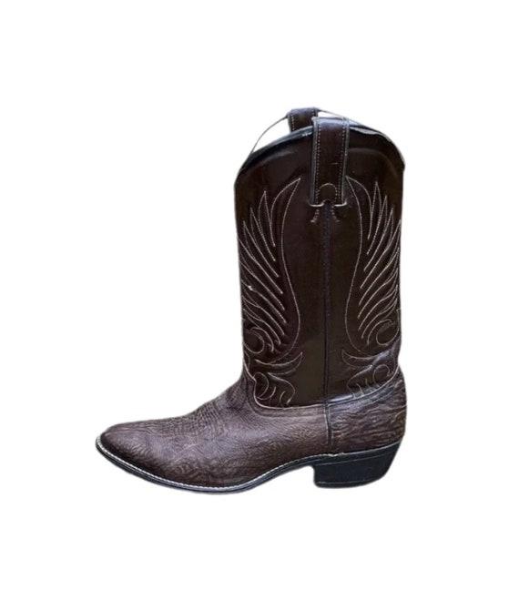 Cowboy Boots - Durango Cowboy Boots -  Brown Leath