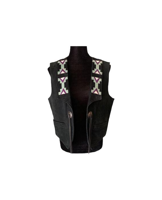 Leather Vest | Fringe Vest | Western | Cowgirl | 9
