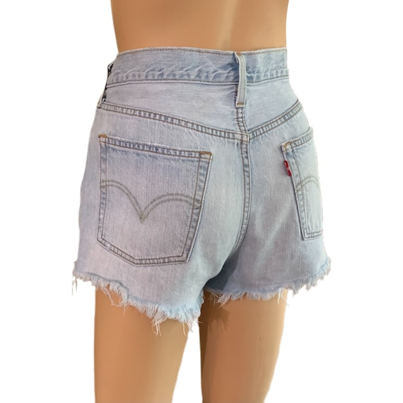 Levi's 501 Cutoff Shorts Button-Fly Vintage 90s H… - image 2
