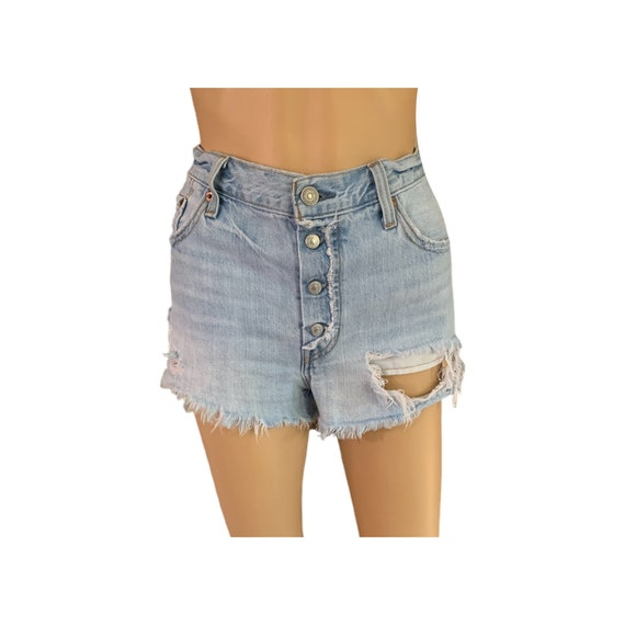 Levi's 501 Cutoff Shorts Button-Fly Vintage 90s H… - image 1