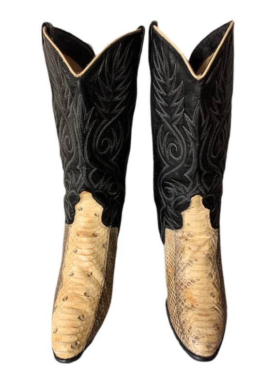 Cowboy Boots | Dingo | Snakeskin Boots | 80s | Di… - image 5
