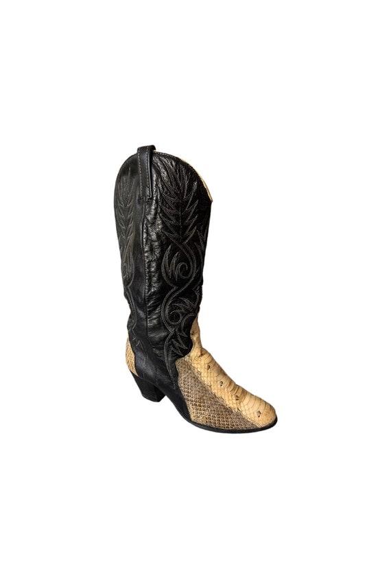 Cowboy Boots | Dingo | Snakeskin Boots | 80s | Di… - image 1