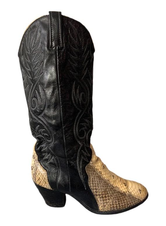 Cowboy Boots | Dingo | Snakeskin Boots | 80s | Di… - image 4