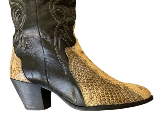 Cowboy Boots | Dingo | Snakeskin Boots | 80s | Di… - image 8