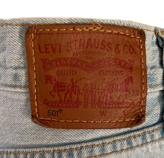Levi's 501 Cutoff Shorts Button-Fly Vintage 90s H… - image 9