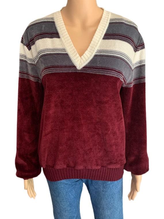 Kennington California Velour Sweater Vintage 70s … - image 3