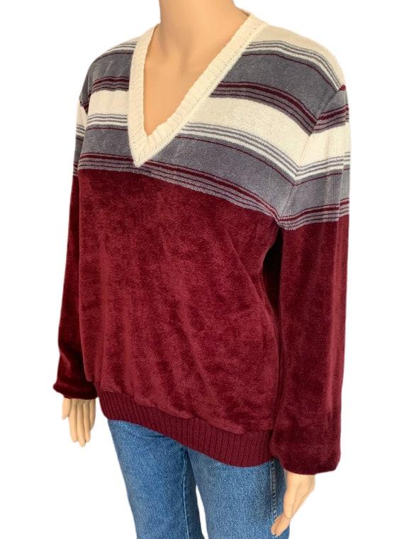 Kennington California Velour Sweater Vintage 70s … - image 4