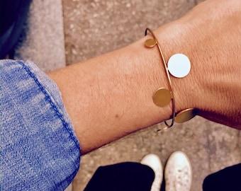 Gold bangle bracelet, Silver bangle, Bangle bracelet, Geometric gold bangle, statement bangle, minimal silver bracelet, gift for her