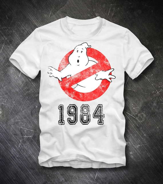 Ghostbusters Logo 1984 Retro T-shirt for Adults