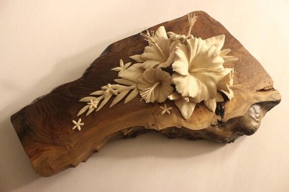 custom carved flower display floral sculpture wood flower etsy