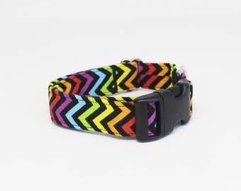 Rainbow Chevron Collar