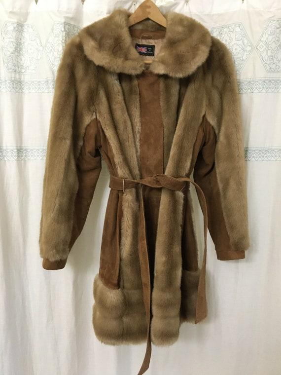 1960's faux fur Lilli Ann, London leathers, vintag
