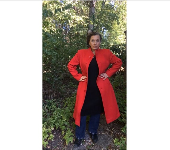 Vintage red Pendleton wool jacket, vintage red coa