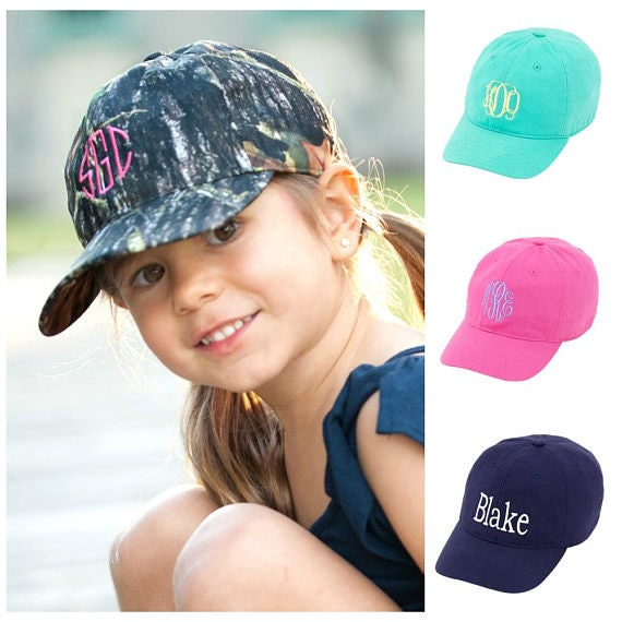 ca61b1f3482d6 Monogrammed Kids Baseball Hat Personalized Kids Hat