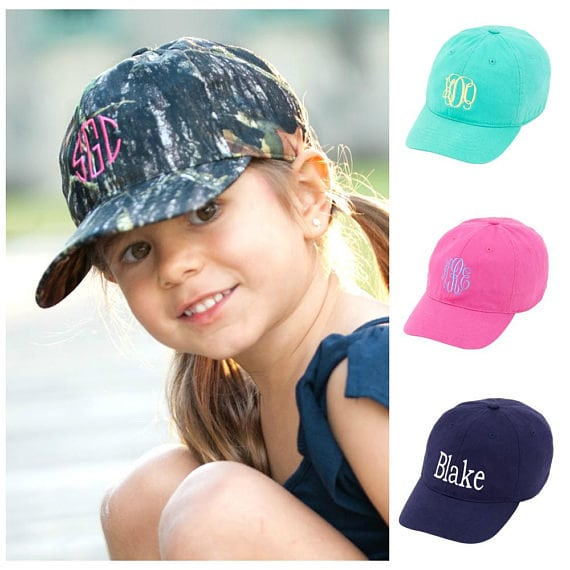 Monogrammed Kids Baseball Hat Personalized Kids Hat  ee8a55aa411d