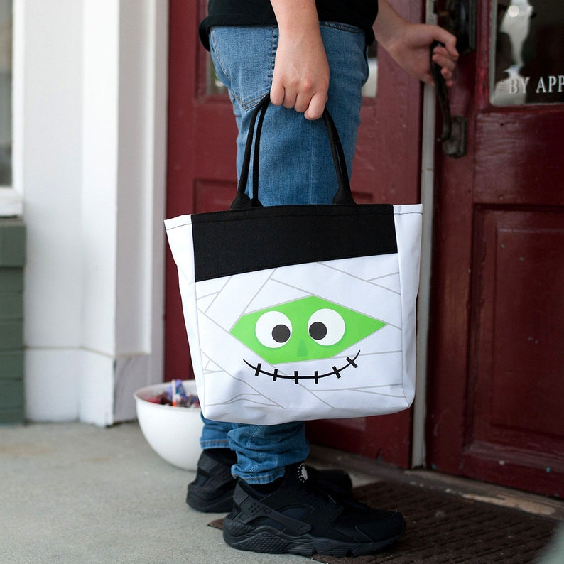 Monogrammed Halloween Tote Personalized Halloween Tote Halloween Bag Trick-or-Treat Tote Quick Shipping Trick-or-Treat Bag