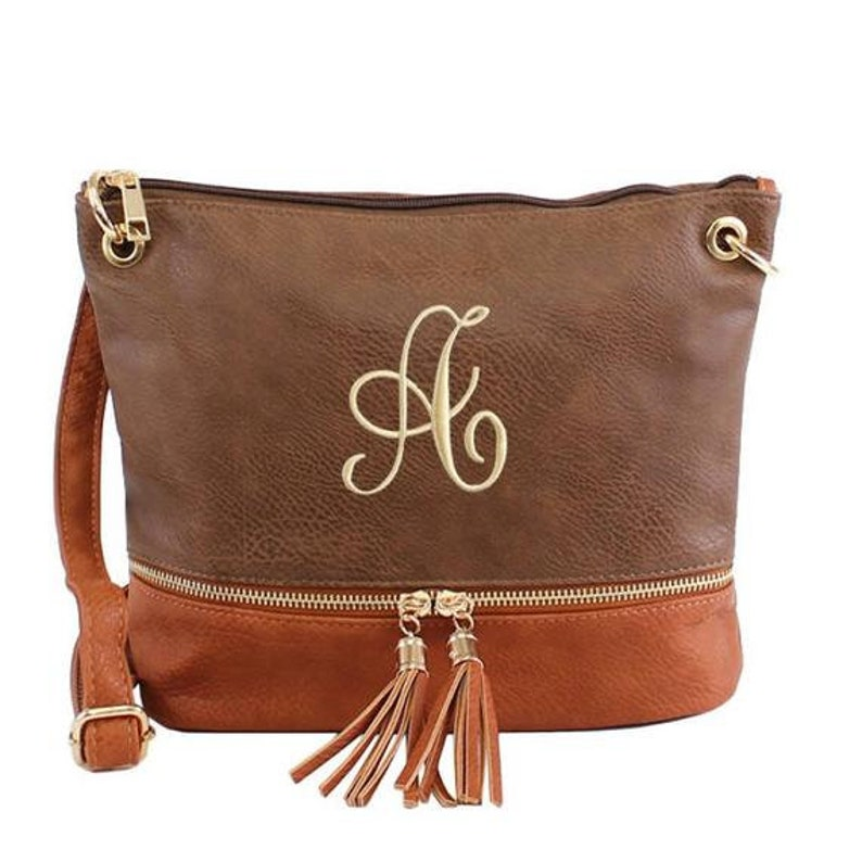 3a6621ea4 Monogrammed Crossbody Bag Pesonalized Tassel Crossbody | Etsy