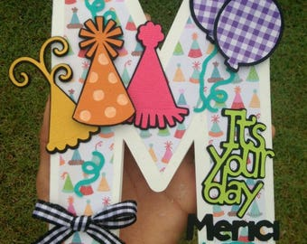 Initial letter handmande  birthday card