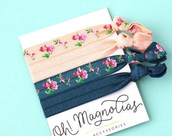 Vintage Floral Elastic Hair Tie Pack aacaae52c3c