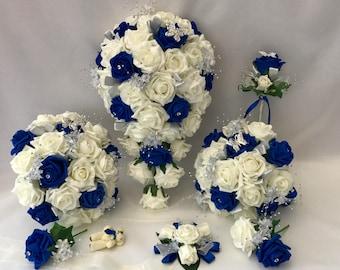 Royal Blue Flower Etsy