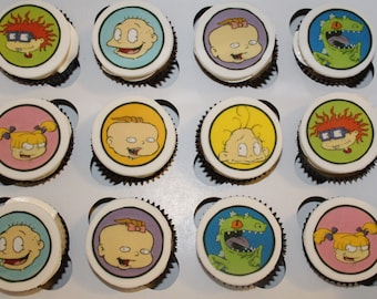 One Dozen Rugrats Cupcake Toppers