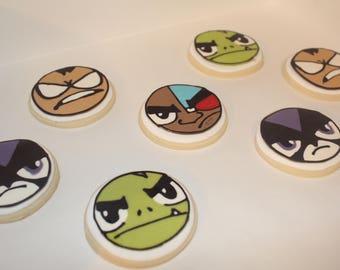 One Dozen Teen Titans Go sugar cookies
