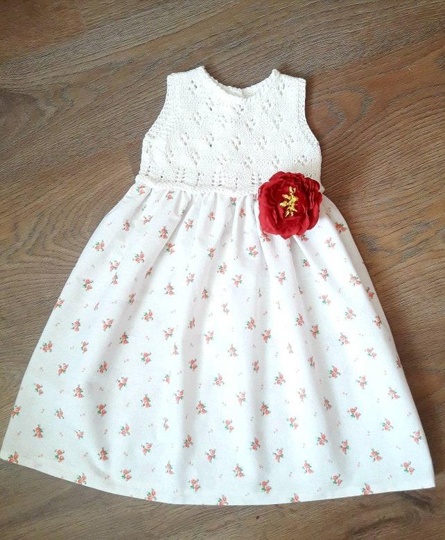 Crochet Top Dress Baby Toddler Girl Natural Cotton Dress Etsy