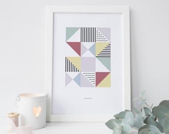 Poster Imprimible Art.e   Ilustración Minimal   Graphic   Digital Print A4