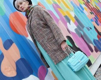 Knitted bag, crochet bag, handmade crochet bag, crossbody bag, woman bag, t-shirt yarn bag