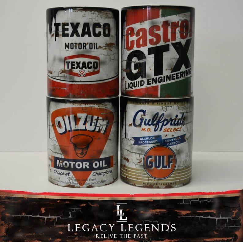 GULF Oil Retro Vintage Classic Tin Enamel Mug Cup Garage Camping car